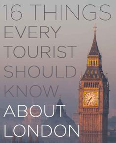 16 Things Londoners Want Tourists To Know