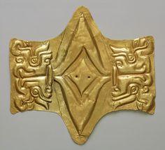 Pectoral, 10th–5th century b.c. Peru; Chavín Gold