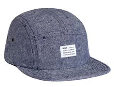 Monogram Chambray Volley 5 Panel Cap by HUF