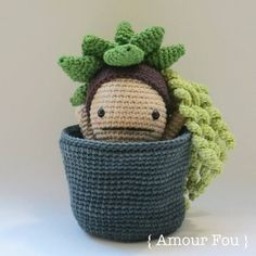 {This is an INSTANT DOWNLOAD PDF CROCHET PATTERN, NOT the finished doll. If you are looking for the finished doll, please contact me...} Be careful when receiving a succulent. Some say that, late at night, when no one is watching, from its terra cotta pot, raises Flora. She will
