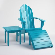Decorating your summer home? These Adirondack chairs from World Market are awesome for relaxing on the porch or down on the sand. Composite Adirondack Chairs, Adirondack Furniture, New Furniture, Porch Furniture, Affordable Outdoor Furniture, Affordable Home Decor, Outdoor Furniture Sets, Outdoor Chairs, Outdoor Decor