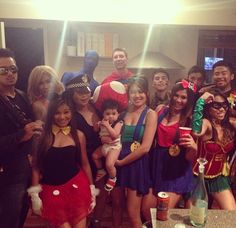 Family dress up party