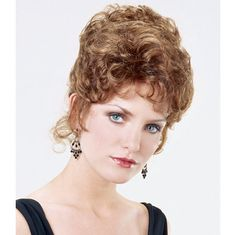 Starlet - PRE-STYLED UPDO. . . Versatile updo style Starlet arrives pre-styled in an elegant cluster of curls.  When the mood strikes, remove the pins and let a cascade of romantic curls fall gently to your shoulders. Find this style & more @ thewigcompany.com