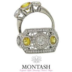 Yellow is the colour of sunshine. It's associated with joy & happiness. #yellowsapphire #montashjewellerydesign