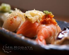 Mr. Robata Japanese Restaurant | Gallery - Broadway and 52nd. Jane said we HAD to go