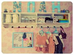 nursery storage ideas    I like this one too!
