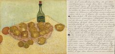 Today it is National Handwriting Day! This photo shows the beautiful handwriting from Helene Kröller-Müller. This is a letter to Sam van Deventer about the Basket of lemons and bottle from Vincent van Gogh. #VanGogh #NationalHandwritingDay #Letter