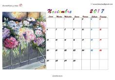 #November #noviembre en mi #Calendar #calendario #2017 #watercolor #painting #draw #acuarela #artist To be happy is a great decision. Deseo que toméis decisiones que aumenten vuestra felicidad ❤❤❤
