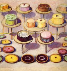 Assorted Cakes And Tarts Wayne Thiebaud Painting