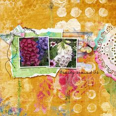 digital layout made by flor using A work in progress by Dawn Inskip