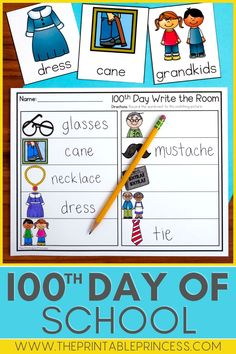 This resource contains math and literacy centers that are perfect for the 100th day of school in Kindergarten. There are 3 literacy, 3 math, and 6 extra no-prep activities that are sure to make your 100th day fun and filled with learning. Activities are hands-on, interactive, engaging and perfect for Kindergarten! Kindergarten Math Activities, Letter Activities, Kindergarten Classroom, Learning Activities, Classroom Ideas, Number Recognition Activities, First Grade Classroom, 100 Days Of School, 100th Day
