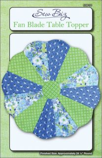 "Pattern Fan Blade Table Topper Dresden Plate By Sew Biz Finished size approximately 24 1/2"" round Advance project Includes directions, supply list, and suggested notions sb103  ~~~~******THIS LISTING IS FOR A PATTERN NOT A PDF DOWNLOAD ********"