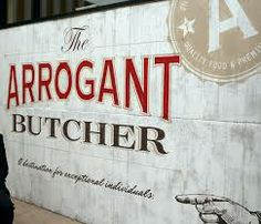 Arrogant Butcher Restaurant. Branding