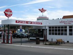 My dad owned and operated a Flying A Truck Station. I remember him coming home covered in grease and oil. Old Gas Pumps, Vintage Gas Pumps, American Gas, Fuel Truck, Pompe A Essence, Velo Vintage, Gas Service, Old Garage, Old Gas Stations