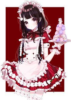 Chica Anime Manga, All Anime, Manga Girl, Kawaii Anime Girl, Anime Art Girl, Anime Girls, Anime Maid, Estilo Anime, Image Manga