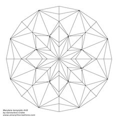 Mandala template 43. There are 52 patterns on her freebie page!