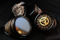 Steampunk Goggles with Fun Spinning Propeller