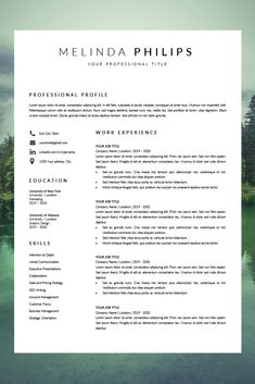 We are pleased to present our new CV template! Melinda professional resume template is easy to edit, minimalistic and perfect for starting a new job! Simple Resume Template, Layout Template, Resume Templates, Cv Template Professional, Professional Cv, Unique Resume, Best Resume, Creative Resume, Resume Layout