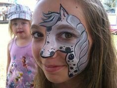 Horse Face Paint Simple Photo 12