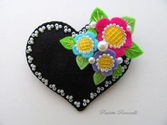 Felt Heart Pin ♥ by Beedeebabee on Etsy, $21.00