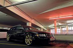 Audi A4 Avant Airride Bentley wheels black schwarz by MyCedes, via Flickr