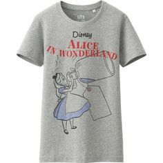 UNIQLO Women Disney Project Short Sleeve Graphic T-Shirt ($15) ❤ liked on Polyvore featuring tops, t-shirts, shirts, t shirt, grey, graphic shirts, grey shirt, short-sleeve shirt, graphic print t shirts and gray shirt