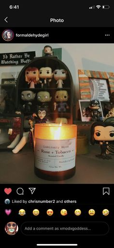 Soy Candles, Scented Candles, Candle Jars, Funko Pop Display