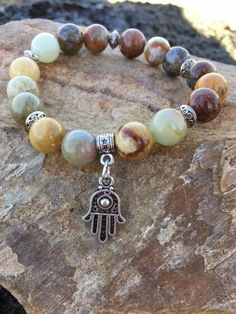 8 Mm Noir Agate Perles Bracelet Bead 7.5 in prier la méditation MALA Tibet Argent environ 19.05 cm