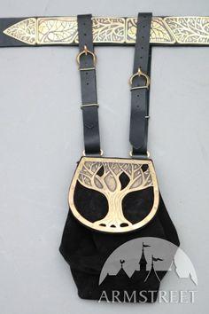 Elven Fantasy Medieval Style Suede, Leather and Metal Renaissance Hip Bag. $88.99, via Etsy.