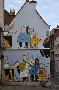 """""""Blondie & Blink,"""" created by Jijé, in Brussels, Belgium - photo by Wim de Koning Gans, via pbase;"""