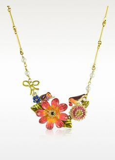 Les Nereides Sous le Chataignier - Robin and Flower Necklace $145.00
