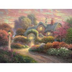 Puzzle Różany dom