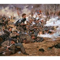 Gray Wallby Don Troiani  In late 1864, a battle line of Confederates of the Army of Tennessee, fight against overwhelming odds as Union troops ascend.