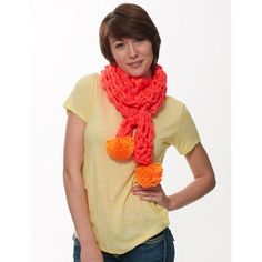 Add a fun pop of color to your winter wardrobe with this quick and easy finger crochet scarf! Finger Crochet, Finger Knitting, Arm Knitting, Knitting Looms, Crochet Scarves, Crochet Shawl, Crochet Clothes, Knit Crochet, Crocheted Hats