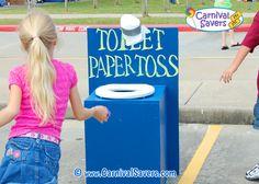 Toilet Paper Toss Unique Carnival Game Idea
