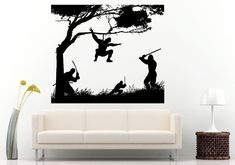 Samurai Ancient History Japanese Warrior Ninjas Fighting Action Scene With Swords Wall Decal Vinyl Sticker Mural Room Decor L627
