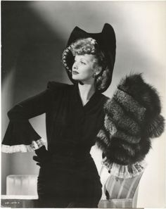 Lucille Ball_that is one fancy outfit.