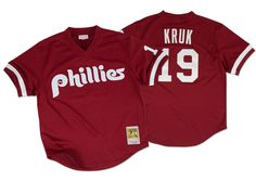 Mitchell & Ness John Kruk 1991 Authentic Mesh BP Jersey Philadelphia Phillies