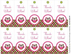 Free Owl Printables | Owl Birthday Freebie! | Sweet Rose Studio