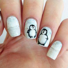 Nailpolis Museum of Nail Art | Penguin nails by Lena
