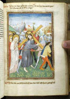 Christ: bearing Cross | Spiegel van den leven ons Heren and other works | Netherlands, Brabant | ca. 1455 | The Morgan Library & Museum