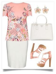 """""""Descontraido"""" by ebramos ❤ liked on Polyvore featuring Yoek, Oasis, Charlotte Russe, Prada and Mixit"""