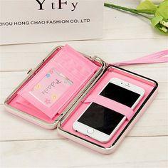 88a2748b1 Women Rabbit Clutch Cosmetic Bag PU Wallet Phone Card Case Universal Purse  For iPhone Samsung Xiaomi
