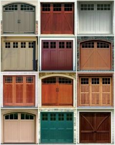 Did you know that new garage doors come in hundreds of styles and colors? | https://decomg.com/170-awesome-home-garage-door-design-ideas-must-see/