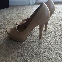 F21 Nude Heels Worn with minor scuffing but still have life left in them. Forever 21 Shoes Heels