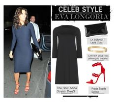 """""""Celeb Style: Eva Longoria"""" by zhris ❤ liked on Polyvore featuring Prada, The Row, Cartier, women's clothing, women, female, woman, misses and juniors"""