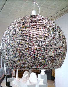 The Conran Shop - London Design Week - Origami - Recycled Newspaper Pendant Lamp