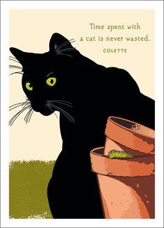 Cat and Caterpillar Birthday - Linnea Design Black Cat Art, Black Cats, Peace Bird, Woodland Flowers, Digital Ink, Life Is Tough, Bird On Branch, Pink Blossom, White Cats