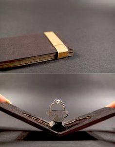 #Engagement #Ring box for a girl who loves books Um, YES. I DO. I Will. I Promise.