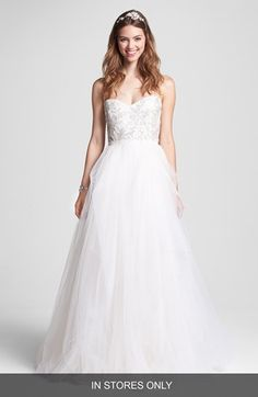 Ad Reem Acra Roses By Ivy Embellished Tulle Ball Gown Wedding Dress From Nordstrom